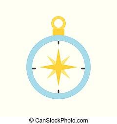 plat, direction, vecteur, conception, compas, icône