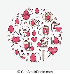 plat, donation, circulaire, sanguine, signe