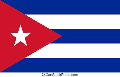 plat, drapeau cubain