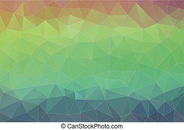 plat, driehoek, kleurrijke, pattern., achtergrond., retro, mozaïek