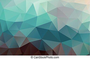 plat, driehoek, kleurrijke, shapes., pattern., achtergrond., geometrisch, mozaïek