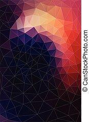 plat, driehoek, kleurrijke, shapes., pattern., retro, achtergrond, geometrisch, mozaïek