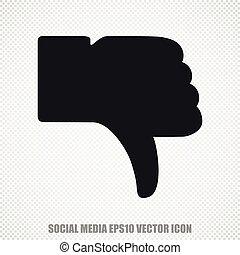 plat, duim, moderne, dons, netwerk, vector, sociaal, icon., design.