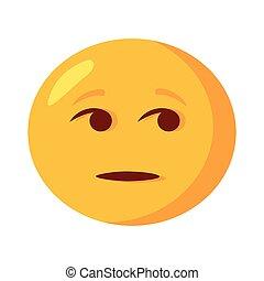 plat, emoji, figure, icône, douteux, classique, style