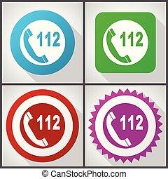 plat, ensemble, 10., urgence, icônes, options., eps, éditer, vecteur, appeler, 4, facile, conception, icône