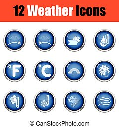 plat, ensemble, tennis, icons., vecteur, conception, illustration, temps, ui, icône, colors.