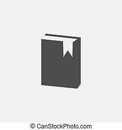 plat, eps10, illustratie, color., vector, ontwerp, black , boek, pictogram