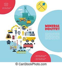 plat, exploitation minière, industrie, gabarit