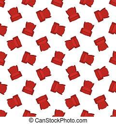 plat, fauteuil, seamless, vecteur, modèle, rouges