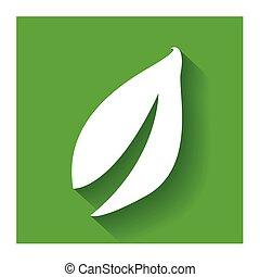 plat, feuille, nature, sain, conception, logo