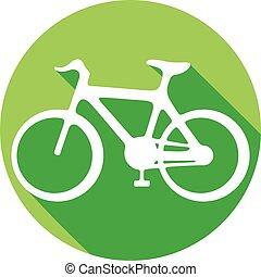 plat, fiets, pictogram