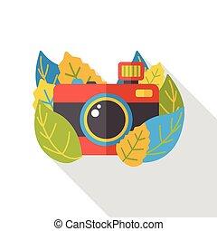 plat, film appareil-photo, icône