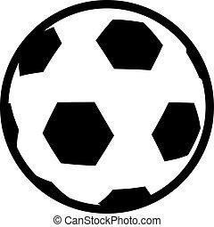 plat, football, conception, balle