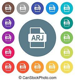 plat, formaat, kleur, iconen, achtergronden, witte , bestand, arj, ronde