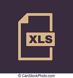 plat, Formaat, symbool, bestand, pictogram,  xls