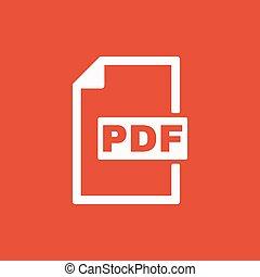 plat, formaat, symbool., bestand, pdf, icon.