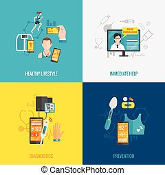 plat, gezondheid, digitale