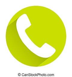 plat, gris, jaune, téléphone, fond, ombre, icône