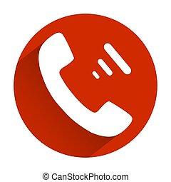 plat, gris, téléphone, fond, ombre, rouges, icône