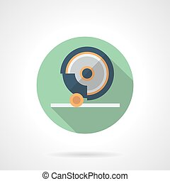 plat, het malen,  Machine,  Vector, groene, ronde, pictogram