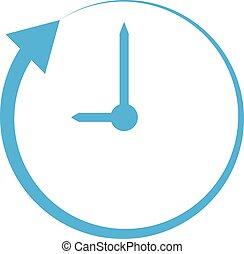 plat, horloge, style., signe., site, ui., arrière-plan., app, toile, flèche, blanc, conception, ton, logo, icône