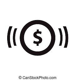 plat, icône, argent