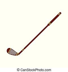 plat, icône, champ, vecteur, hockey, sport équipe, crosse