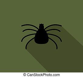 plat, icône, halloween, araignés, desig