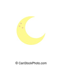 plat, icône, style, lune, espace
