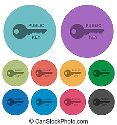 plat, icônes, couleur, clã©, public, plus sombre