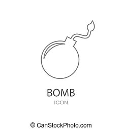 plat, icon., bom, style., ontwerp