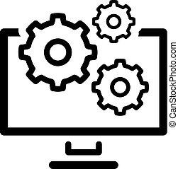 plat, icon., management, data, design.