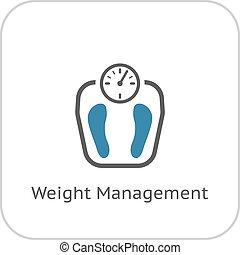 plat, icon., management, gewicht, design.