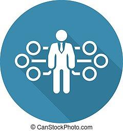 plat, icon., management, stroom, design.
