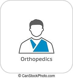 plat, icon., orthopédie, design.