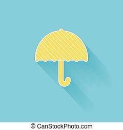 plat, icon., parapluie