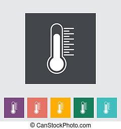 plat, icon., thermomètre