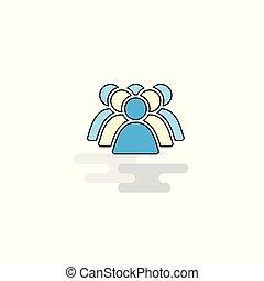 plat, icon., vector, politie, avatar