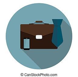 plat, illustra, business, long, proces, vecteur, icône, ...