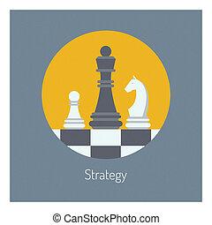plat, illustration affaires, stratégie