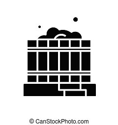plat, illustration, icône, noir, vecteur, symbole, glyph,...