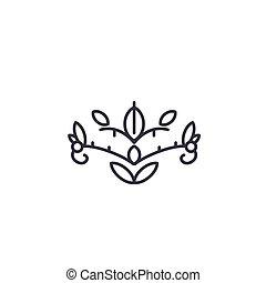 plat, illustration., signe, concept., symbole, vecteur, soapwort, ligne, icône