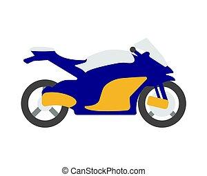 plat, illustration, vecteur, vélo, logo., dessin animé, icône
