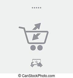 plat, import-export, magasin, icône