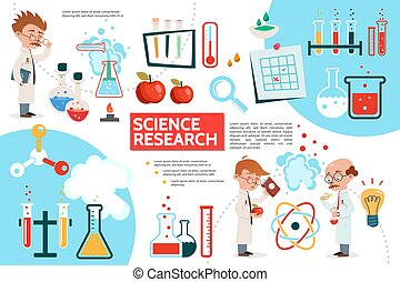 plat, infographic, gabarit, science