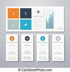 plat, infographic, ui, minimaal, element