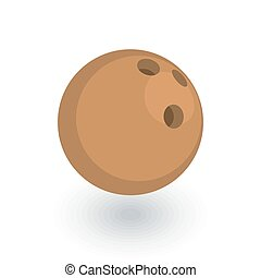 plat, isometric, bal, vector, bowling, icon., 3d