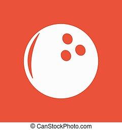 plat, jeu, symbole., icon., bowling