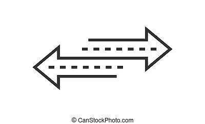 plat, keerzijde, zakelijk, achtergrond., concept., vrijstaand, verversen, meldingsbord, reload, vector, illustratie, richtingwijzer, witte , style., pictogram