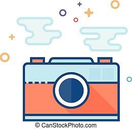plat, kleur, pictogram, -, afbeelding, bestand, formaat